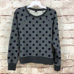J. Crew Velvet Polka Dot Sweatshirt